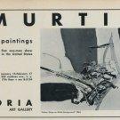 Murtic Vintage 1968 Art Exhibition Ad Publicite Advert Adria Gallery