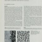 1974 Leon Polk Smith Dealings in Equivalence Vintage 1974 Art Magazine Article by Lawrence Alloway