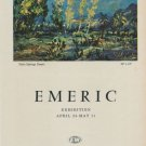 Emeric 1968 Art Exhibition Ad Publicite Advert Palm Springs Desert Emile Walter Galleries, NY