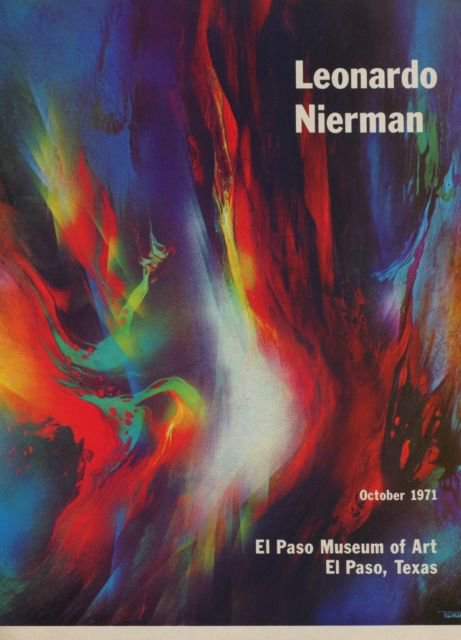 Leonardo Nierman Vintage 1971 Art Exhibition Ad Publicite Advert El Paso Museum of Art