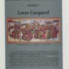Leon Gaspard Vintage 1974 Art Exhibition Ad Publicite Advert Kennedy Galleries, NY
