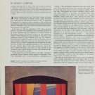 Alexandra Exter and the Dynamic Stage Vintage 1974 Art Magazine Article