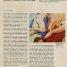 A Conversation with Philip Pearlstein Vintage 1971 Art Magazine Article by Ellen Schwartz