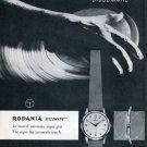 1957 Rodania Discomatic Watch Advert Publicite Suisse Swiss Print Ad Rodania Watch Co Rodana