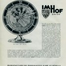 Imhof Clock Company 1957 Swiss Print Ad Suisse Publicite L'Heure Universelle Arthur Imhof S.A.