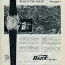 1957 Tissot Visodate Watch Advert Original 1950s Swiss Print Ad Publicite Suisse Montres