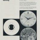 1958 Incabloc Universal Escapement Co Switzerland Swiss Print Ad Publicite Suisse Horlogerie