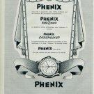 1957 Phenix Rollamatic Chronostop Watch Advert Swiss Print Ad Publicite Suisse Montres