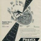 Vintage 1955 Phenix Rollamatic Watch Advert 1950s Swiss Print Ad Publicite Suisse Montres