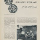 1958 L'Exposition Itinerante Cyma Navystar Vintage 1958 Swiss Magazine Article Cyma Watch Co