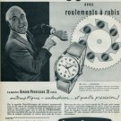 Girard-Perregaux Watch Company Switzerland Vintage 1957 Swiss Ad Suisse Advert (French Text)