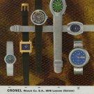 1971 ronel Watch Company Switzerland Vintage 1971 Swiss Ad Suisse Advert Horology