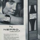 1971 Nepro Watch Company Nepro Zanzara Advert 1971 Swiss Ad Suisse Advert Horlogerie Horology
