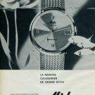 1963 Mido Watch Company Mido Ocean Star Advert 1963 Swiss Ad Suisse Advert Horlogerie Horology