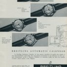 Breitling Watch Company Geneva Switzerland Vintage 1956 Swiss Ad Suisse Advert