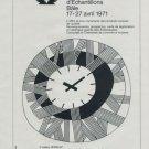 1971 Foire de Bale Swiss Watch Fair Basle Basel Switzerland 1971 Swiss Ad Suisse Advert
