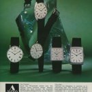 Alpina Watch Company Switzerland Vintage 1975 Swiss Ad Advert Suisse Schweiz