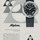 Alpina Watch Company Bienne Switzerland Vintage 1971 Swiss Ad Suisse Advert