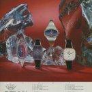 Delma Watch Company Vintage 1975 Swiss Ad Suisse Advert Lengnau Switzerland