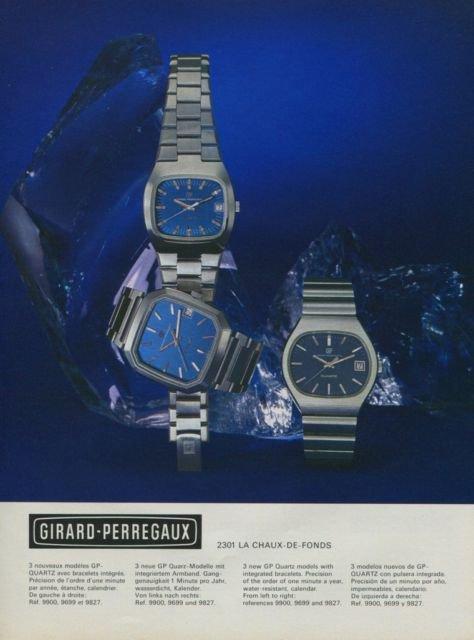 1975 Girard-Perregaux Watch Company Vintage 1975 Swiss Ad Suisse Advert Horlogerie