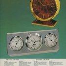 Imhof Clock Company Switzerland Arthur Imhof Vintage 1975 Swiss Ad Suisse Advert