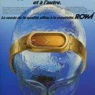 1975 RoWi Rodi & Wienenberger AG Company Vintage 1975 Swiss Ad Suisse Advert Horology