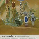 Odeon Watch Company Switzerland Vintage 1975 Swiss Ad Advert Suisse Horlogerie