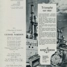Ulysse Nardin Watch Company Vintage 1955 Swiss Ad Suisse Advert Horology