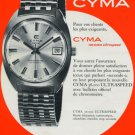 Cyma Watch Company Synchron S.A. Vintage 1971 Swiss Ad Suisse Advert Horlogerie