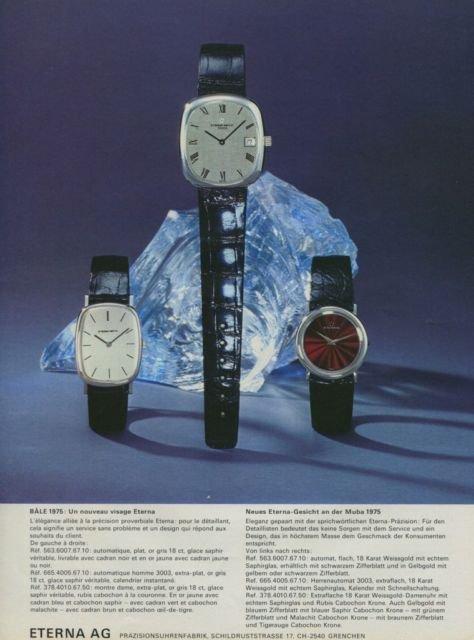 Eterna Watch Company Switzerland Vintage 1975 Swiss Ad Suisse Advert Horology