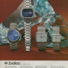 1975 Zodiac Watch Company Le Locle Switzerland Vintage 1975 Swiss Ad Advert Suisse Horlogerie