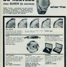 1963 Buren Watch Company Buren Starlite Advert Swiss Ad Suisse Advert Switzerland