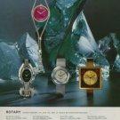 1975 Rotary Watch Company Switzerland Vintage 1975 Swiss Ad Advert Suisse Horlogerie