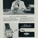 Atlantic Watch Company Vintage 1955 Swiss Ad Suisse Advert Horlogerie Horology