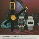 Gruen Watch Company Neuchatel Switzerland Vintage 1975 Swiss Ad Suisse Advert