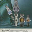 Aureole Watch Company Switzerland Vintage 1975 Swiss Ad Suisse Advert Horlogerie