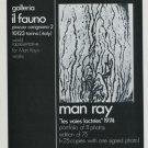 Man Ray Vintage 1974 Art Ad Galleria il Fauno Italy