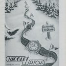 1946 Nicolet Watch Company Tramelan Switzerland Vintage 1946 Swiss Ad Suisse Advert