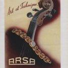 Arsa Watch Company Vintage 1946 Swiss Ad Tramelan Switzerland Suisse Advert