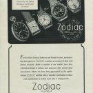 1946 Zodiac Watch Company Switzerland Vintage 1946 Swiss Ad Suisse Advert Horlogerie Horology