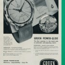 Gruen Watch Company Geneva Switzerland 1960 Swiss Ad Suisse Advert Horlogerie Horology