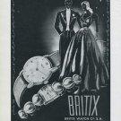 1946 Britix Watch Company Vintage 1946 Swiss Ad Lengnau Switzerland Suisse Advert