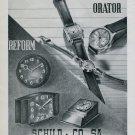1946 Orator Watch Company Reform Clock Co. Schild & Co SA 1946 Swiss Ad Suisse Advert