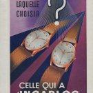 1946 Incabloc Watch Part Company Switzerland 1946 Swiss Ad Suisse Advert Horology Horlogerie