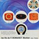 1960 Fils de F. Romanet Morbier Clock Company FFR Jura France 1960 Swiss Ad Suisse Advert