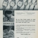 1960 Marc Nicolet Watch Company Switzerland Vintage 1960 Swiss Ad Suisse Horlogerie Advert Horology