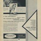 1957 Universal Geneve Watch Company Geneva Switzerland Vintage 1957 Swiss Ad Suisse Advert
