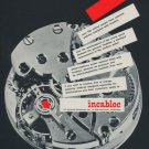 1957 Incabloc Universal Escapement Company Switzerland 1957 Swiss Ad Suisse Advert Horology