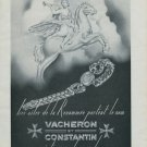 1946 Vacheron & Constantin Watch Company Switzerland Vintage 1946 Swiss Ad Suisse Advert Horlogerie
