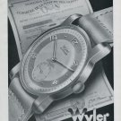 1946 Wyler Watch Company Bienne Switzerland Vintage 1946 Swiss Ad Suisse Advert Horlogerie